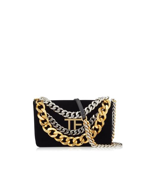 VELVET TRIPLE CHAIN BAG