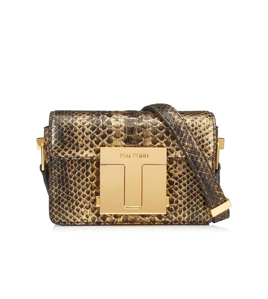 TWO TONE METALLIC PYTHON SMALL 001 BAG