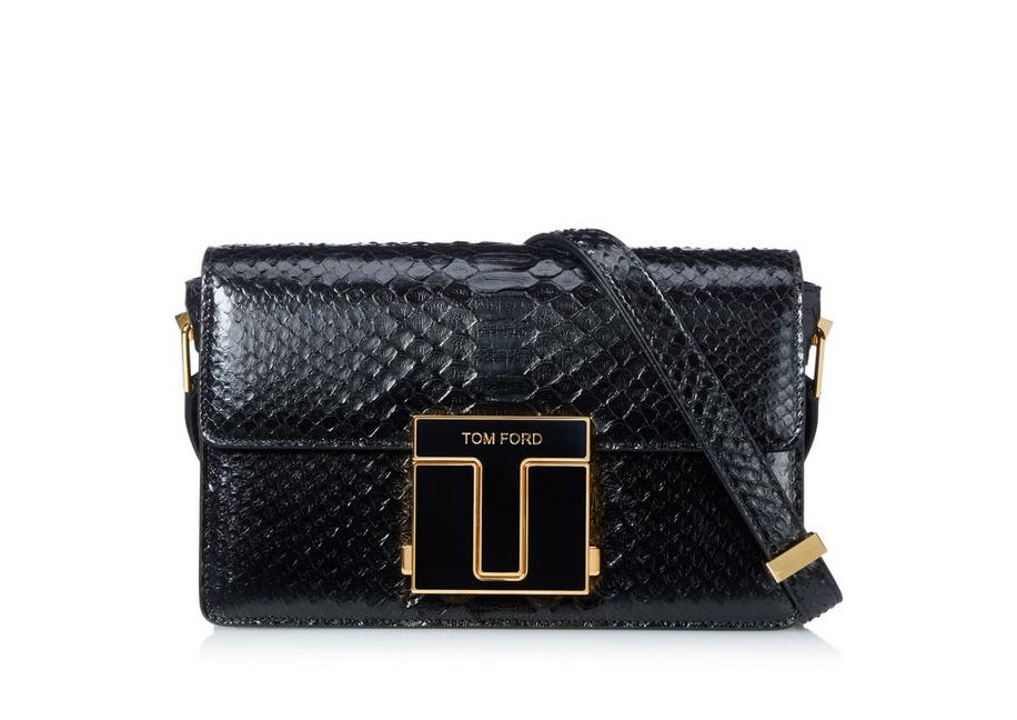 SEMI SHINY PYTHON MEDIUM 001 BAG A fullsize