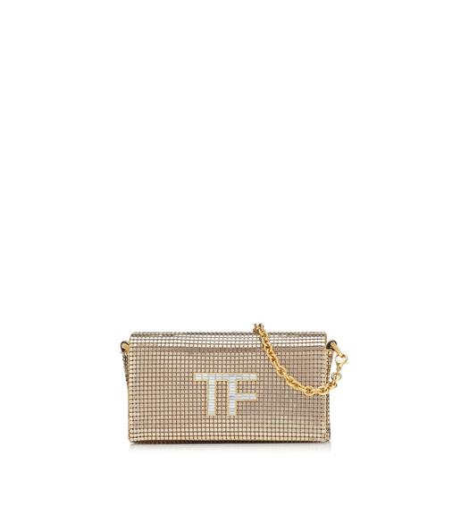 METAL MESH CRYSTAL TF MINI BAG