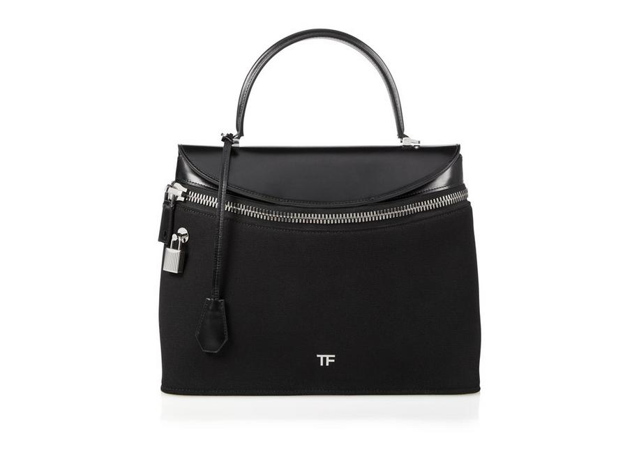 CANVAS AND PALMELLATO LEATHER METRO TOP HANDLE BAG A fullsize