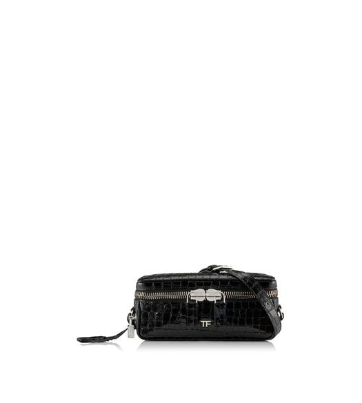 EMBOSSED CROCODILE METRO SMALL BOX BAG