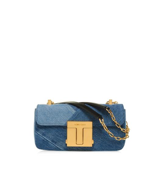 DENIM PATCHWORK 001 CHAIN MEDIUM SHOULDER BAG
