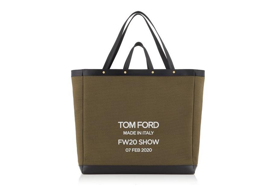 TEXTURED CANVAS T SCREW OVERSIZE SHOPPING BAG A fullsize