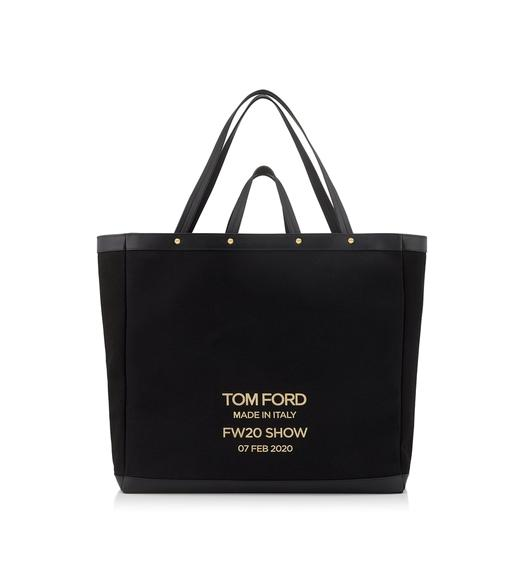 TEXTURED CANVAS T SCREW OVERSIZE SHOPPING BAG