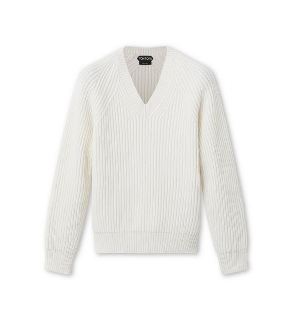 RIBBED PURE CASHMERE SWEATER A fullsize