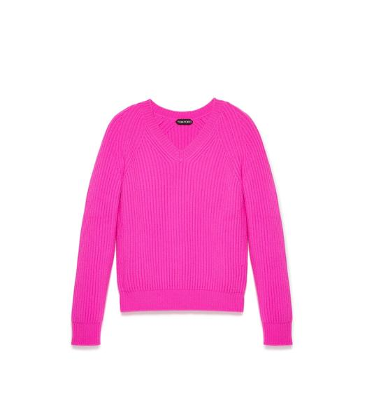 RIBBED PURE CASHMERE SWEATER
