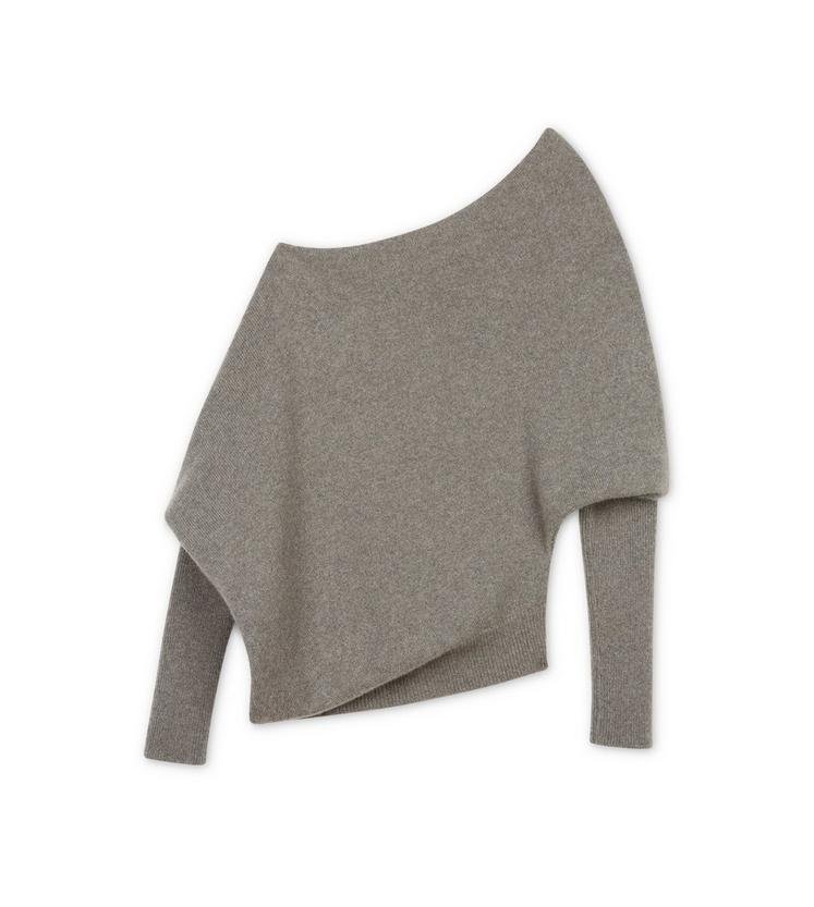OFF-SHOULDER ASYMMETRICAL CASHMERE KNIT TOP B fullsize