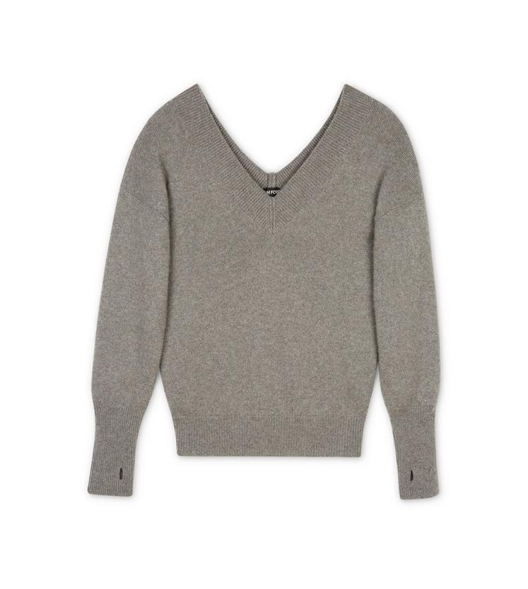 V-NECK CASHMERE KNIT TOP A fullsize