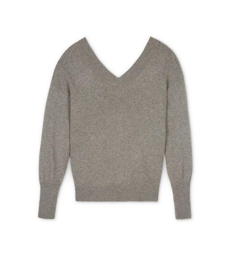V-NECK CASHMERE KNIT TOP B fullsize