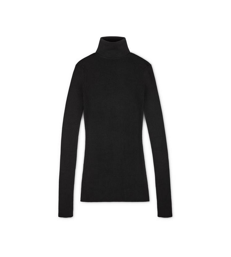 FITTED POLO NECK TOP A fullsize