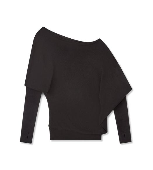 CASHMERE SILK OFF-SHOULDER TOP
