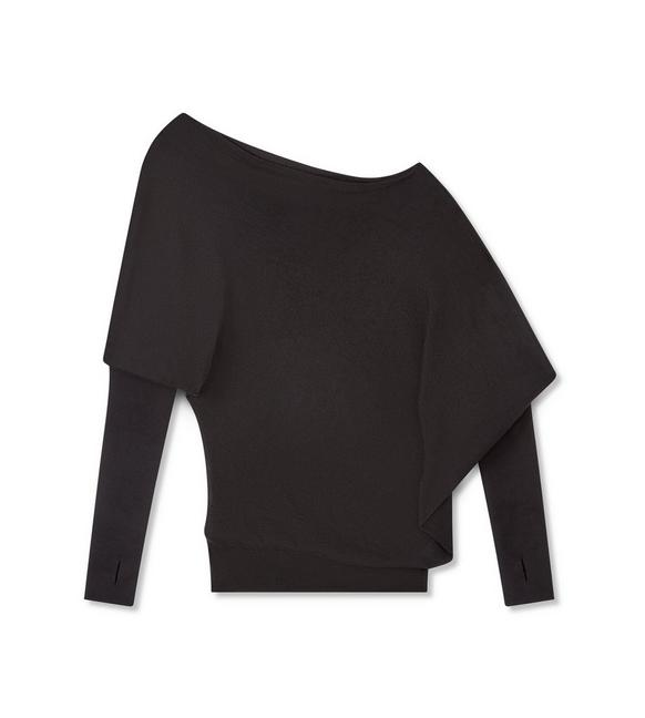 CASHMERE SILK OFF-SHOULDER TOP A fullsize