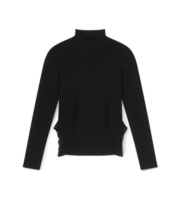 TURTLENECK WITH SILK FRILLS A fullsize