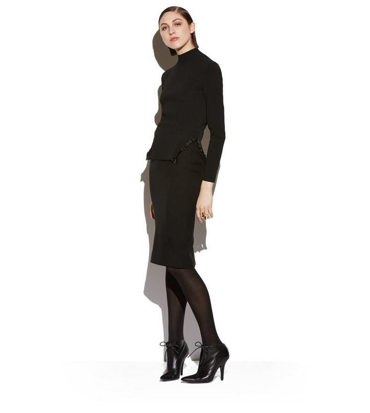 TURTLENECK WITH SILK FRILLS B fullsize