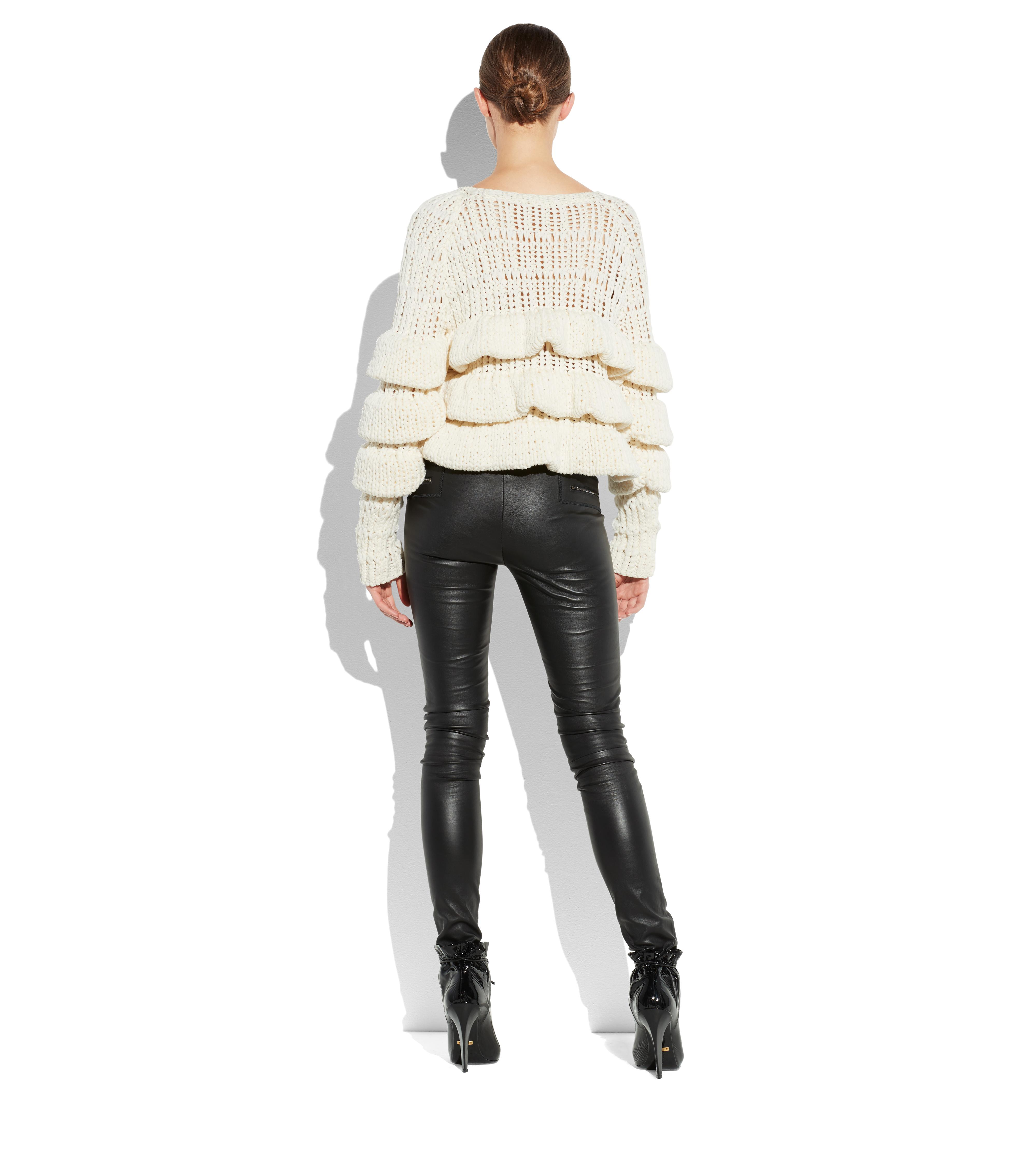 CROPPED LAYERED WOOL SWEATER C thumbnail