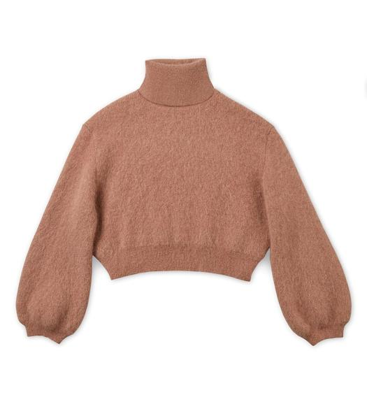 CROPPED MOHAIR TURTLENECK