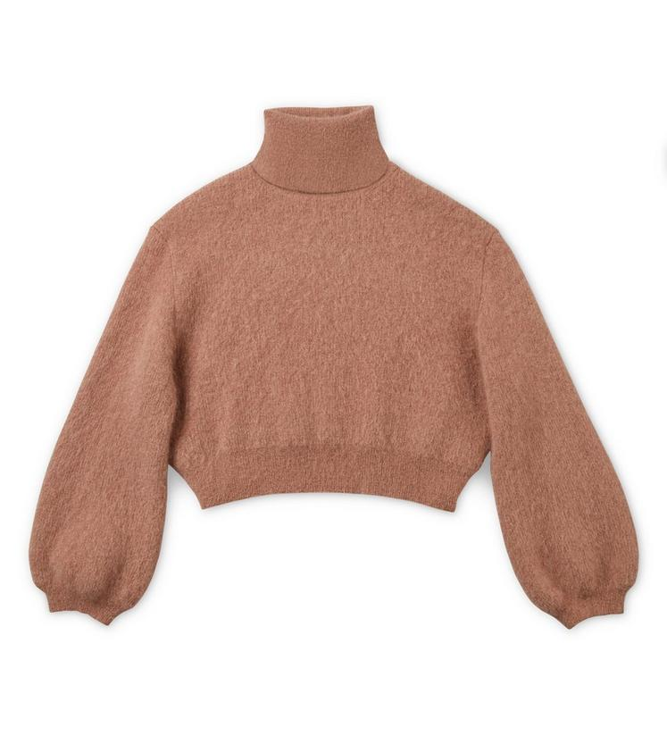 CROPPED MOHAIR TURTLENECK A fullsize