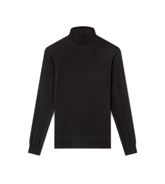 CASHMERE MOCK NECK TOP