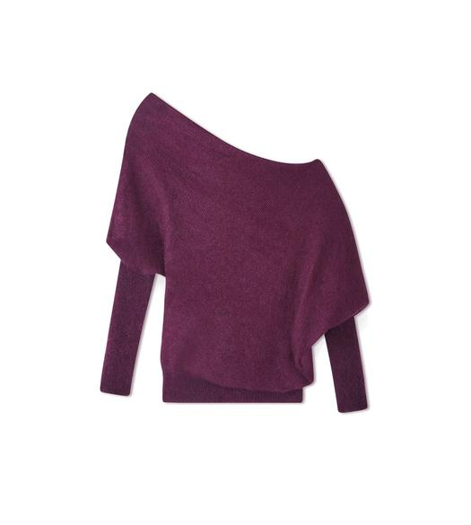 MOHAIR SILK OFF-SHOULDER SWEATER
