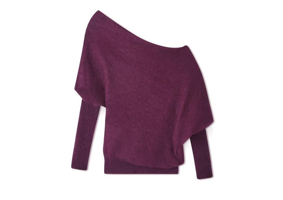 MOHAIR SILK OFF-SHOULDER SWEATER A fullsize