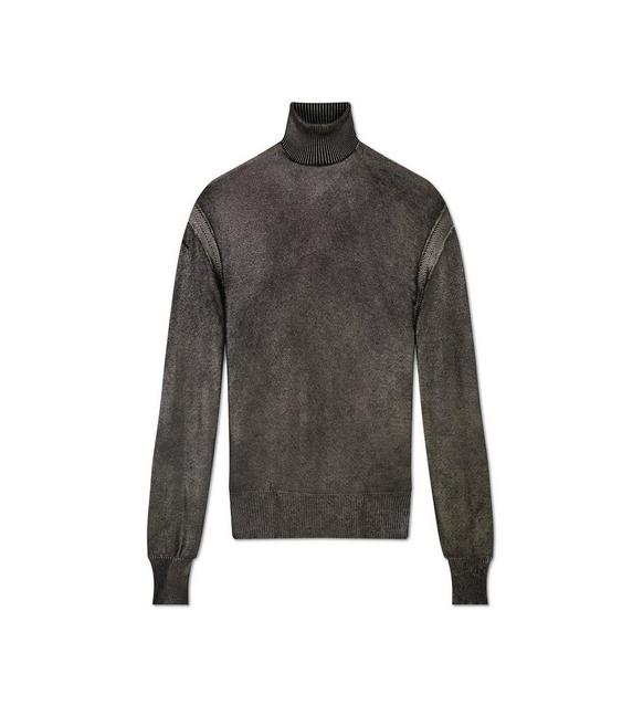 METALLIC FOIL TURTLENECK A fullsize