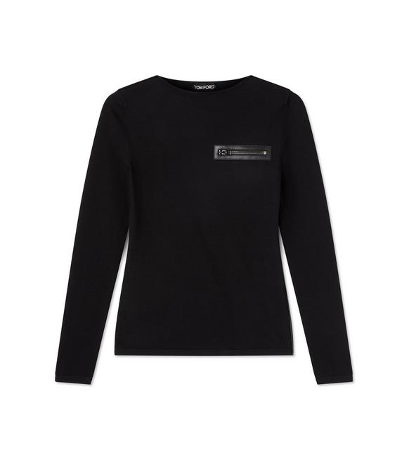 ZIP POCKET CREWNECK A fullsize
