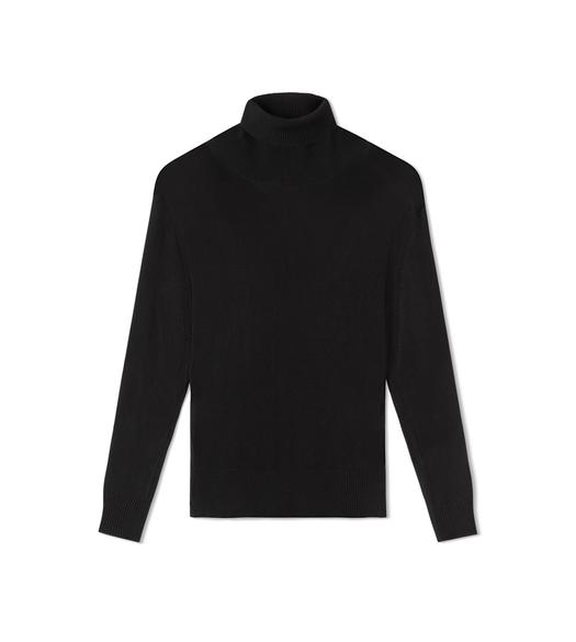FINE VISCOSE RIB TURTLENECK TOP