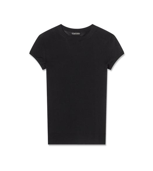 SUPERFINE WOOL CREWNECK T-SHIRT