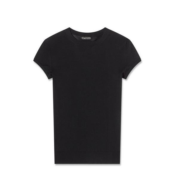 SUPERFINE WOOL CREWNECK T-SHIRT A fullsize