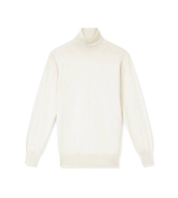FINE CASHMERE SILK TURTLENECK TOP A fullsize