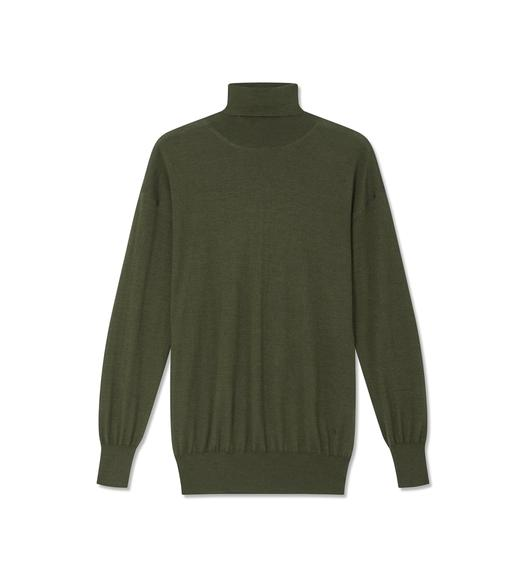 FINE CASHMERE SILK TURTLENECK TOP