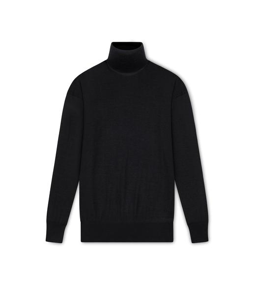 FINE CASHMERE SILK TURTLE NECK TOP