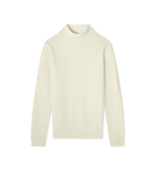 SOFT CASHMERE RIB TURTLENECK TOP