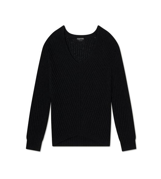 RIBBED TEXTURED SILK SWEATSHIRT
