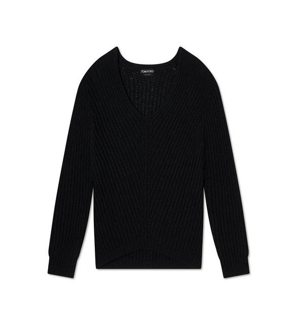 RIBBED TEXTURED SILK SWEATSHIRT A fullsize