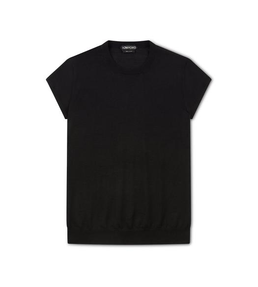 FINE CASHMERE SILK FITTED T-SHIRT