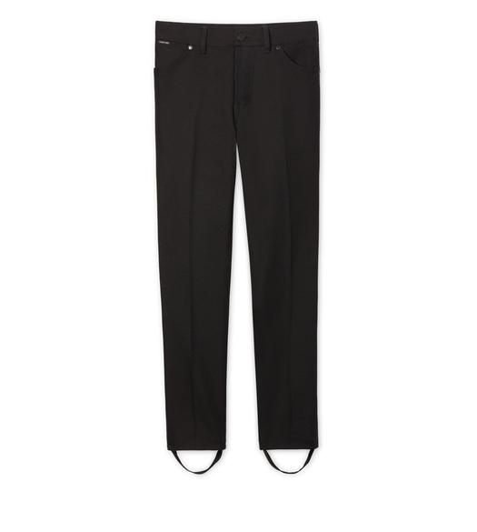 STRETCH DENIM STIRRUP PANTS
