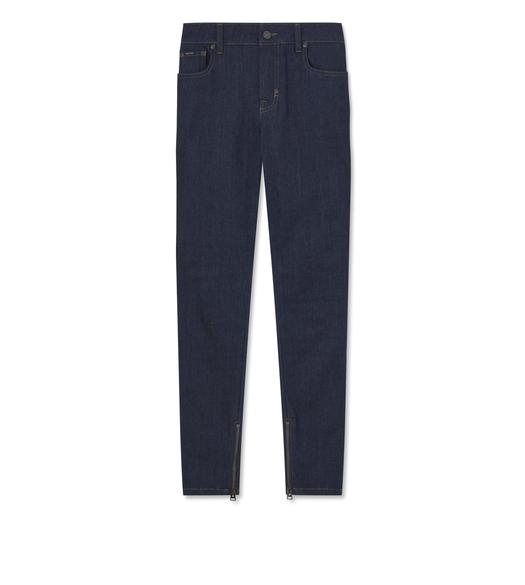 STRETCH INDIGO DENIM SKINNY JEANS