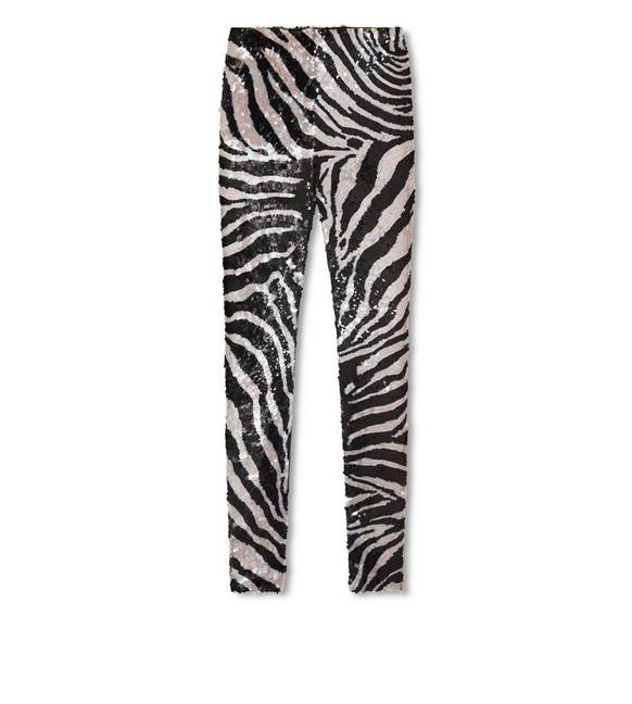 ZEBRA LIQUID SEQUIN LEGGINGS A fullsize