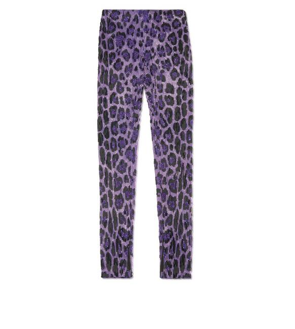 EMBROIDERED JAGUAR LEGGINGS A fullsize