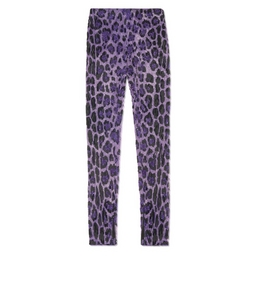 1335208528 EMBROIDERED JAGUAR LEGGINGS
