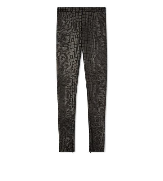 CROCODILE JACQUARD LEGGINGS