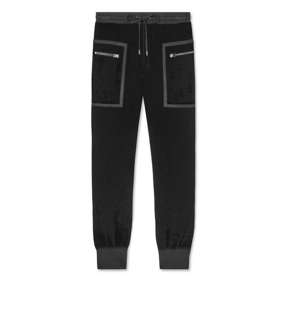 STRETCH VISCOSE SWEATPANTS A fullsize