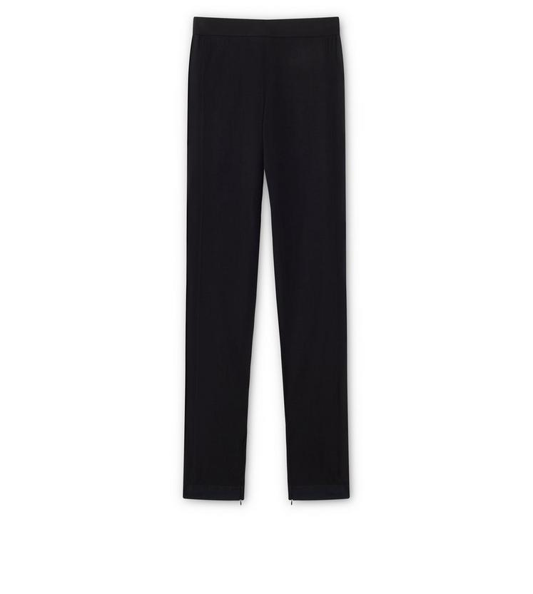 FINE CASHMERE SILK KNITTED TROUSERS A fullsize