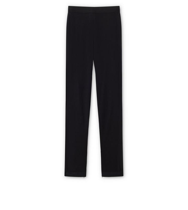 FINE CASHMERE SILK KNITTED TROUSERS B fullsize