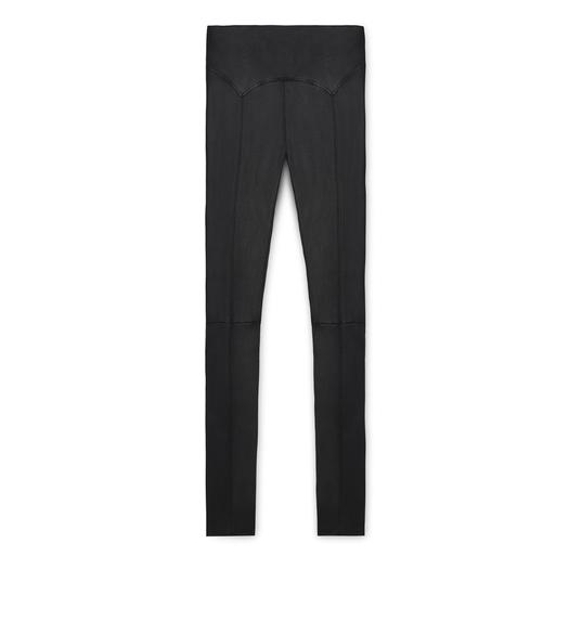 YOKE LEATHER LEGGING
