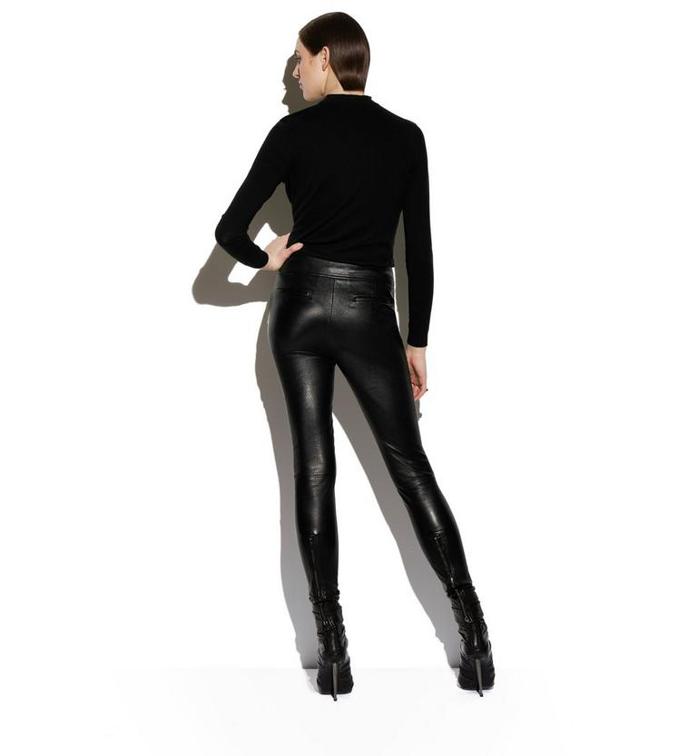 LEATHER LEGGINGS WITH ANKLE CUFF & ZIP C fullsize