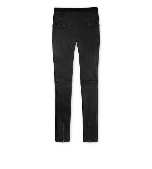 Pantalon Slim En Cuir - Noir Tom Ford Jvq0LT0