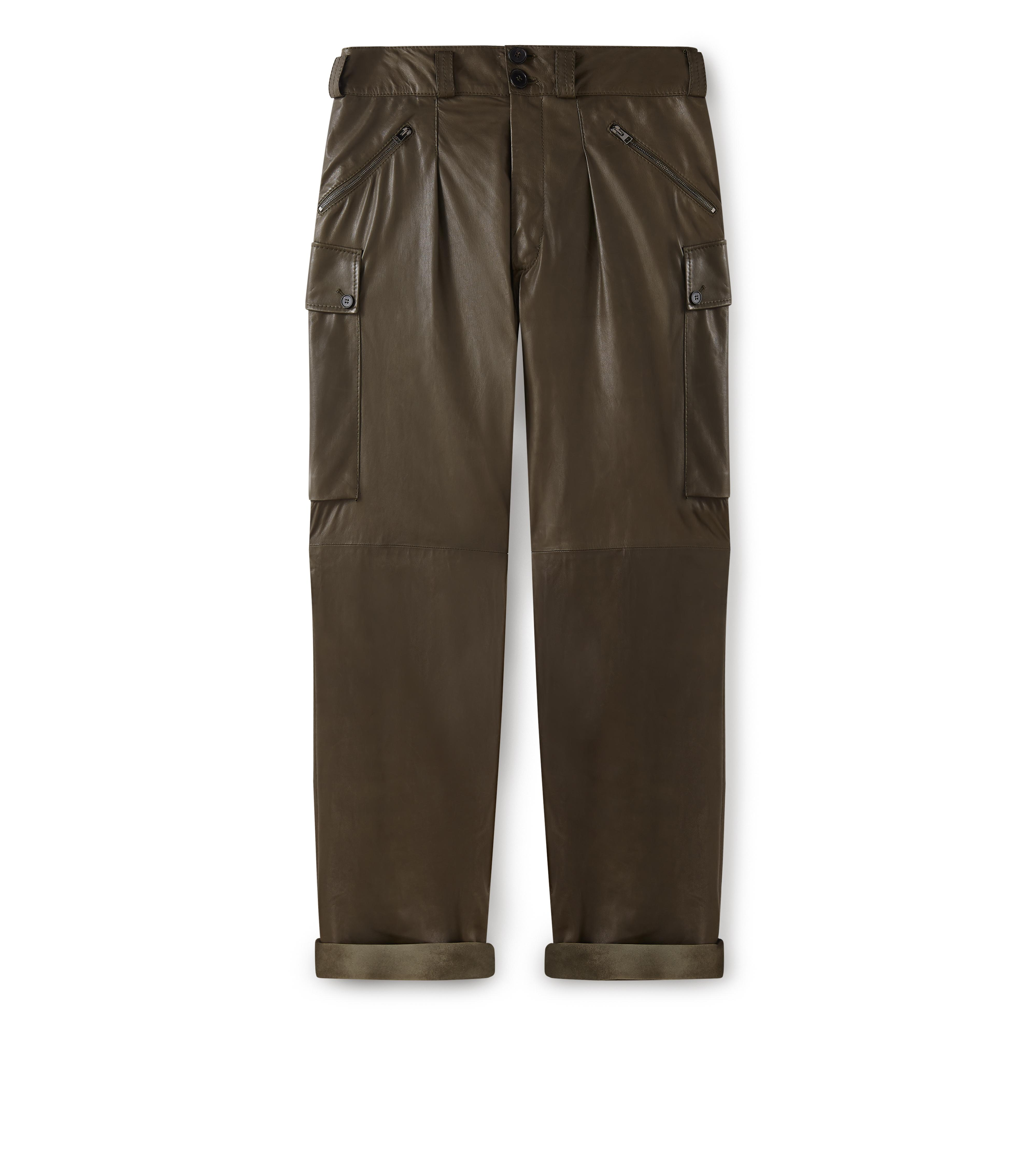CLOVER LEATHER CARGO PANTS A thumbnail